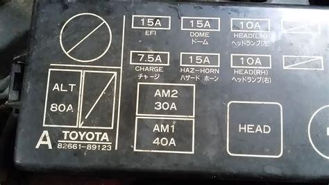 Toyota Truck Blower Motor Fuse Location Youtube