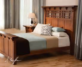 mission style bed frame plans  woodworking projects