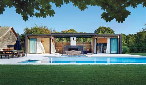 icrave fashions  private garden  eden   backyard pavilion  accompanying lap pool