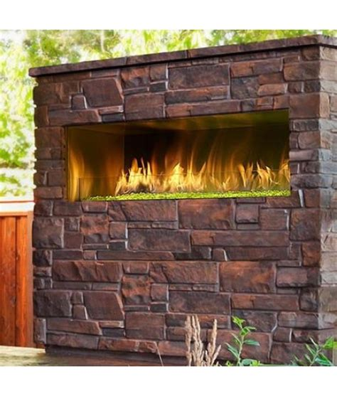vent free outdoor fireplace majestic palazzo 48 quot outdoor vent free linear gas fireplace