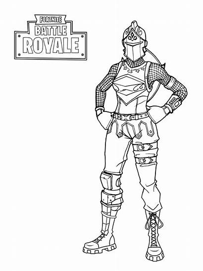 Fortnite Knight Coloring Pages Printable Royale Battle