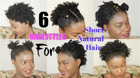 quick easy everyday hairstyles  short natural hair