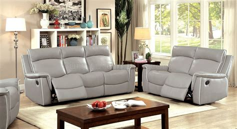 Light Grey Loveseat by Salome Motion Sofa Loveseat Set Cm6798 In Light Gray W
