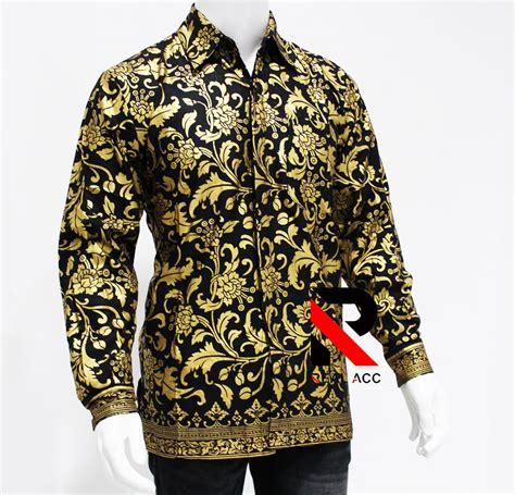 jual batik pria batik pekalongan kemeja batik lengan panjang songket di lapak real acc real acc