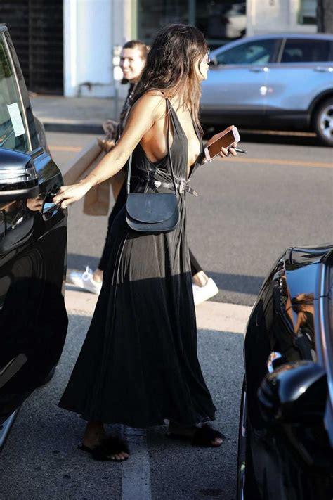 eiza gonzalez   black dress     los angeles