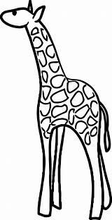 Giraffe Coloring Wecoloringpage sketch template