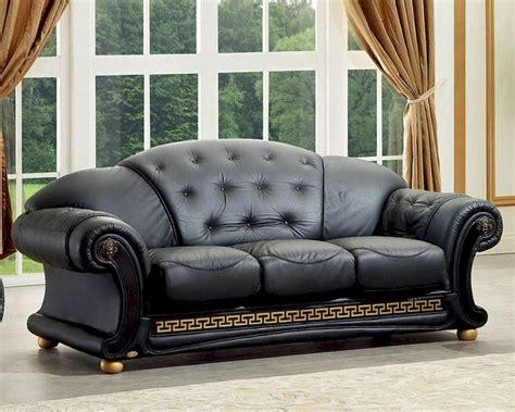 Sectional Sofa On Sale by Black Sofa In Classic Style Versace Esfves