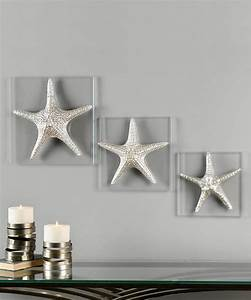 make a lovely bedroom decor with starfish decorations With kitchen cabinets lowes with large starfish wall art