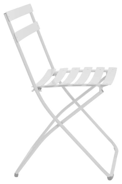 spice folding bistro chair white traditional folding