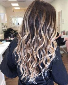 bombshell blonde highlights  brown hair layers