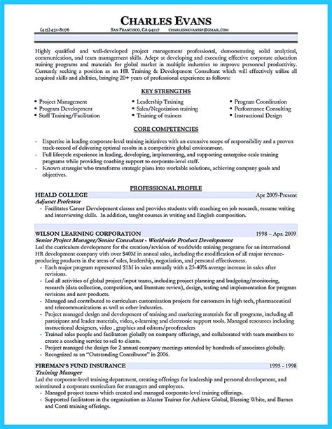 Trainer Resume Format by Brilliant Corporate Trainer Resume Sles To Get