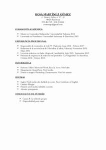 Modelo De Curriculum Vitae Simple Celo Yogawithjo Co