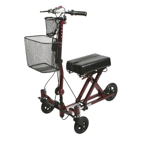 burgundy area rugs medline weil 3 wheel knee walker in burgundy mds86000g2