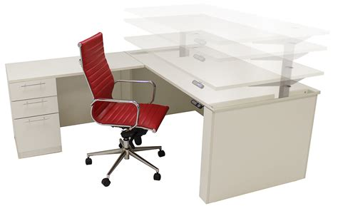 white executive office desk adjustable height u shaped executive office desk in white