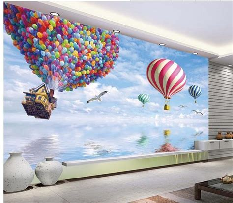 new large wallpaper air balloon mural wallpaper mural