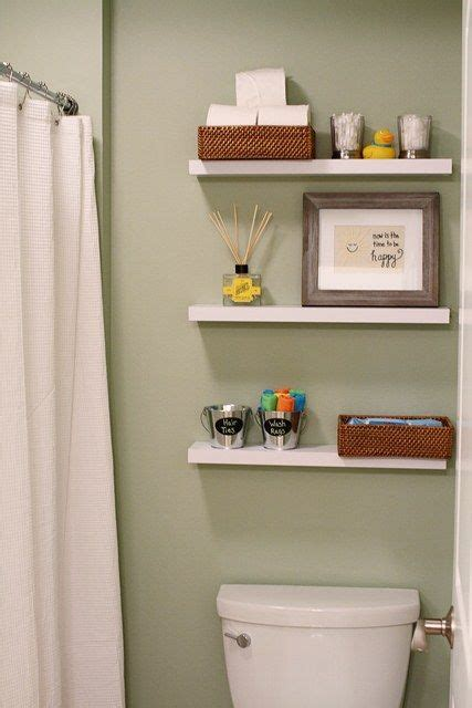 floating shelves above toilet for the home