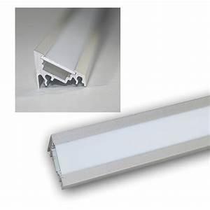 Led Profil Weiß : 1m led winkel aluprofil 60 eloxiert abdeckg wei ~ Buech-reservation.com Haus und Dekorationen