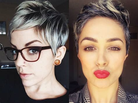 Vivacious Short Pixie Haircuts With Highlights