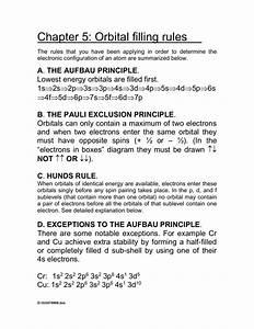 Worksheet 24  Orbital Filling Rules