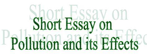 essay  letter writing short essay  pollution
