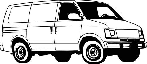 Minibus Van Coloring Page Wecoloringpage