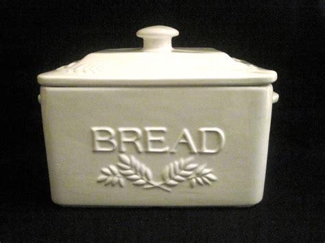 portuguese kitchen decor traditional style ceramic bread box ivory white