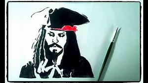 Easy Simple Jack Sparrow Drawing