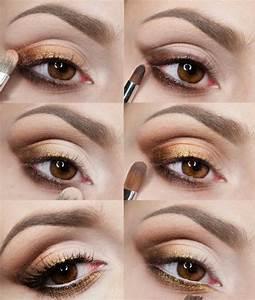 Maquillage Pour Yeux Marron : maquillage de fete pour yeux marrons ~ Carolinahurricanesstore.com Idées de Décoration