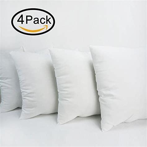 18x18 pillow insert 4 packs hippih square pillow insert 18x 18 inch import