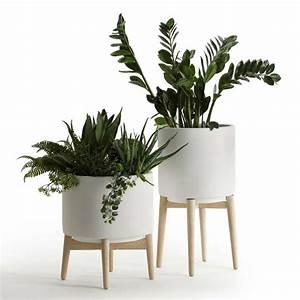 Pot Pour Plante Intérieur : cache pot sur pied et support pour plante 19 id es d co pour vos v g taux ~ Melissatoandfro.com Idées de Décoration