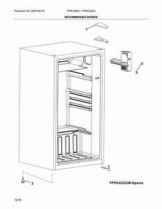 Frigidaire Ffpe3322um Compact Refrigerator Parts