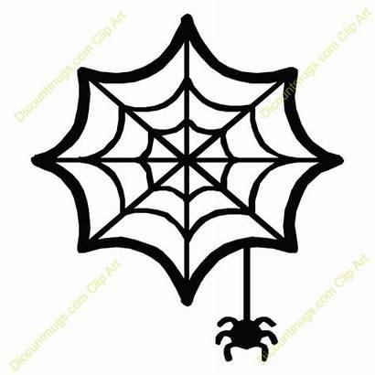 Spider Web Clipart Cartoon Clip Halloween Hanging
