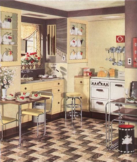1930s decorations retro kitchen design you never seen before