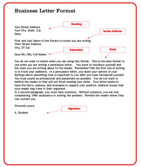 sample addressing  formal letter  examples  word