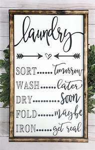 signs with quotes farmhouse decor laundry room decor
