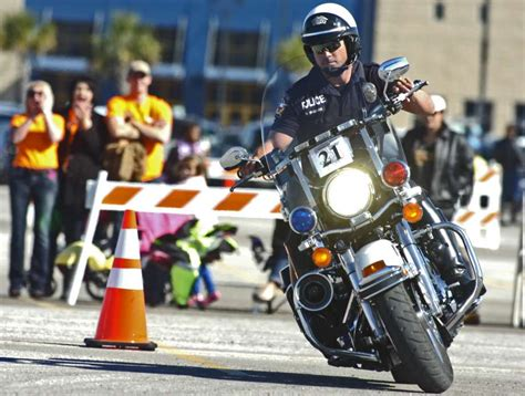 Motorcycle Cops Show Off Skills At Beaumont Competition