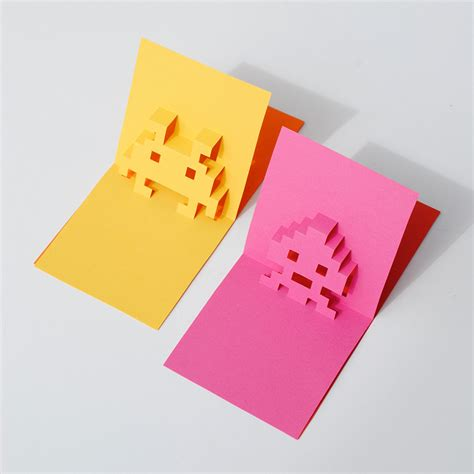 8bit Pop Up Card  Paperchase Journal