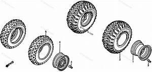 Honda Atv 1985 Oem Parts Diagram For Wheel Rim    Wheel
