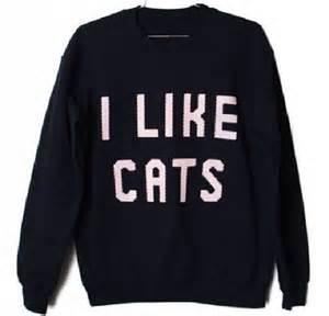 i like cats sweater i like cats cats sweaters girly