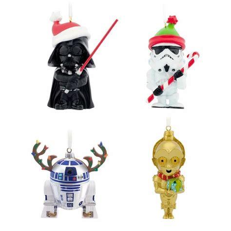 star wars ornaments  hallmark set     box