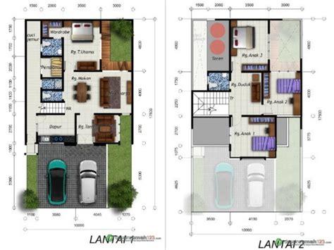 desain rumah  lantai     ruang tidur