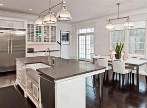Dark Wood Flooring For Kitchen Island Designs With Sink