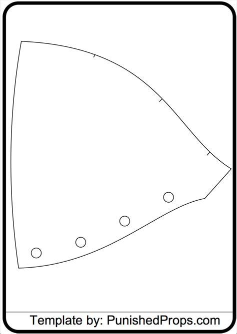 shoulder armor template shoulder pattern for costume armor punished props costumes shops armors and
