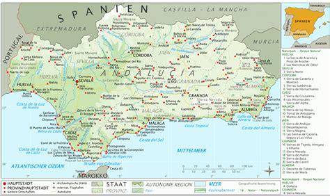 Villes Principales Espagne Carte