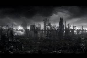 Dark, City, Background, U00b7, U2460, Wallpapertag