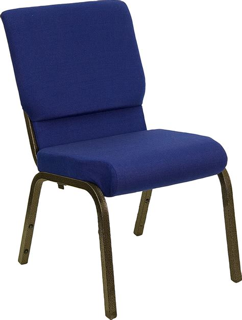 18 5 quot padded church chair in navy blue from hercules