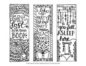 free printable coloring page bookmarks designs