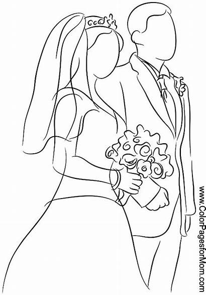 Coloring Pages Weddings Adult Printable Coloringpages Colorpagesformom
