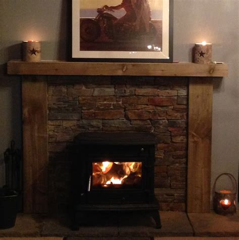wooden fire surround   fireplace