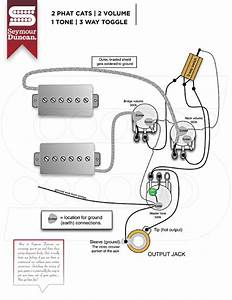 Guitar Wiring Diagram 2 Volume 1 Tone